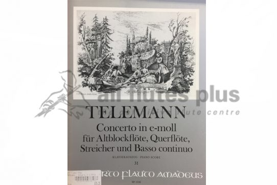 Telemann Concerto in E Minor-Two Flutes and Basso Continuo-Amadeus
