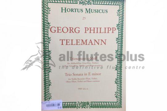 Telemann Trio Sonata in E Minor-Two Flutes and Basso Continuo-Hortus Musicus
