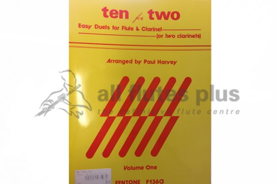 Ten for two-Flute and Clarinet-Arranged by Paul Harvey-Fentone