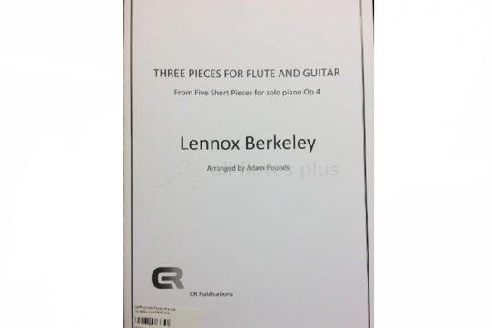 Berkeley Three Pieces-Flute and Guitar-Arr by Adam Pounds-CR Publications