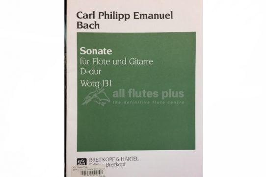 Blavet Sonata VI in A Minor Op 2-Flute and Guitar-Breitkopf