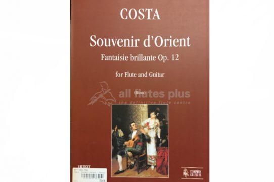 Costa Souvenir d'Orient Fantaisie Brillante Op 12-Flute and Guitar