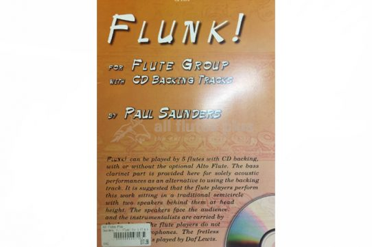 Flunk by Paul Saunders-Flute Group with CD Backing Tracks