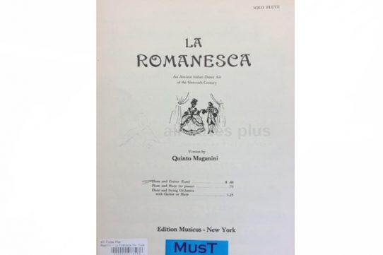 Maganini La Romanesca-Flute and Guitar-MusT