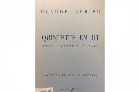 Arrieu Quintette En Ut-Wind Quintet-Billaudot