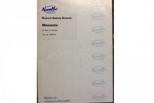 Bennett Memento-Flute and Strings-Novello