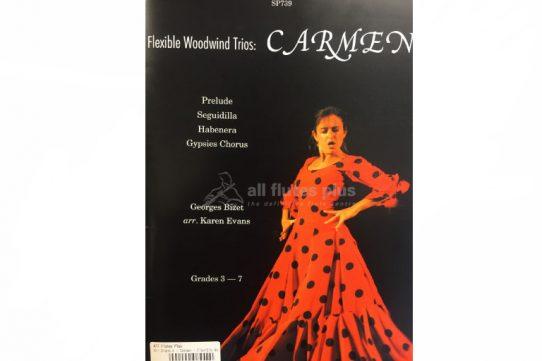 Bizet Carmen-Flexible Woodwind Trios-Spartan Press