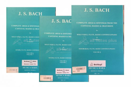 JS Bach Complete Arias and Sinfonias the Cantatas Masses and Oratorios for Tenor Voice-Breitkopf