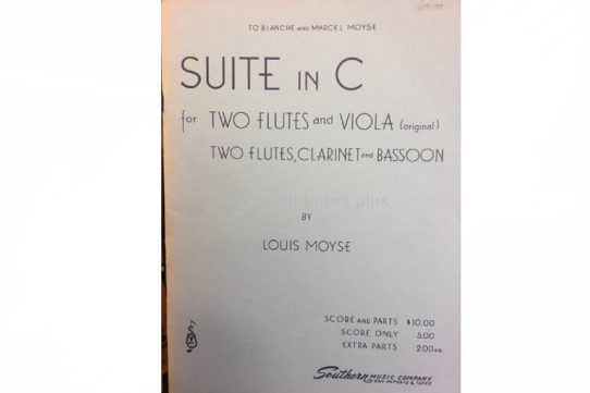 Moyse Suite in C-Two Flutes and Viola or Wind Quartet-Southern Music