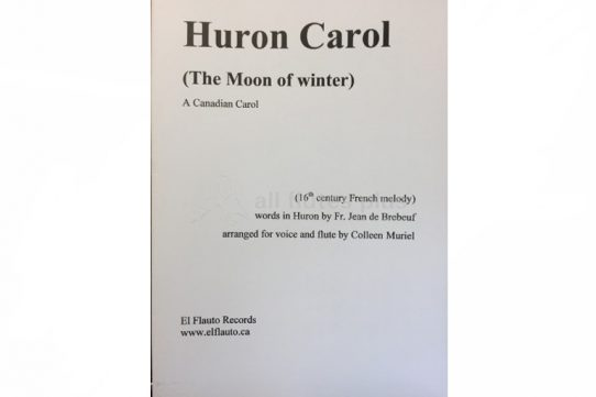 Muriel-Huron Carol-The Moon of Winter-Flute and Voice-El Flauto Records