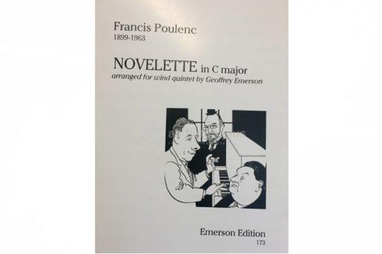 Poulenc Novelette in C Major-Wind Quintet-Emerson Edition