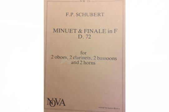 Schubert Minuet and Finale in F D72-Wind Septet-NOVA