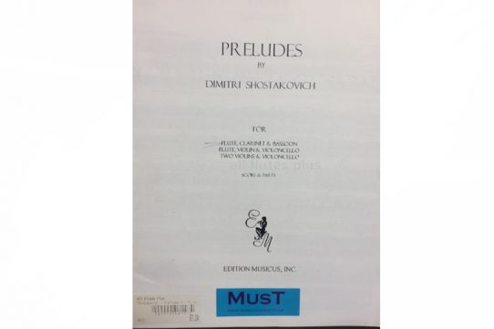Shostakovich Preludes-Flute, Clarinet and Bassoon-MusT