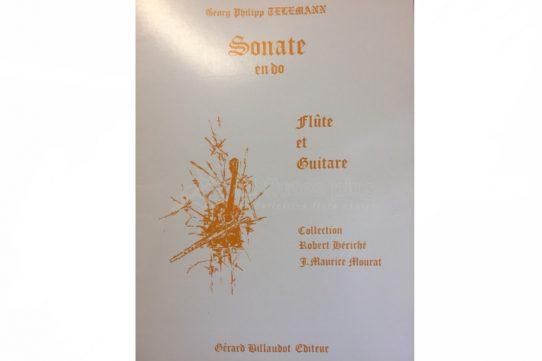 Telemann Sonata in C-Flute and Guitar-Billaudot