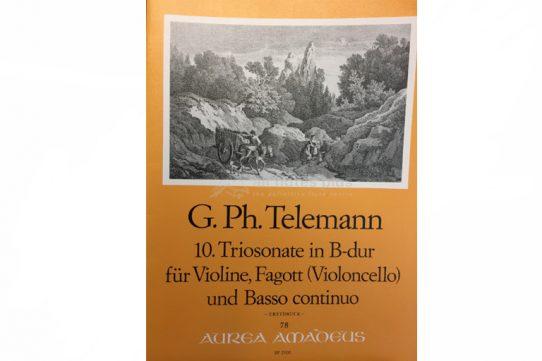 Telemann Trio Sonata in B Minor-Violin, Bassoon and Basso Continuo-Amadeus