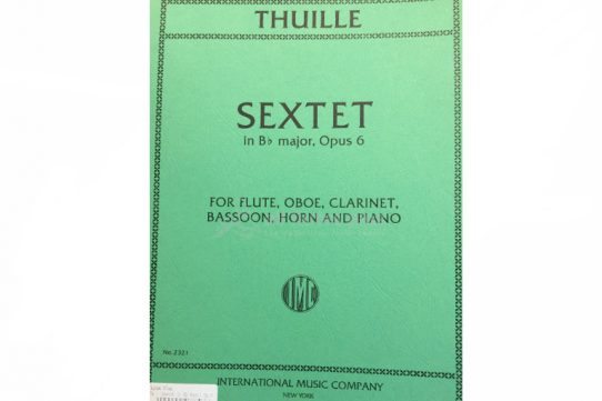 Thuille Sextet in Bb Major Opus 6-Wind Quintet and Piano-IMC