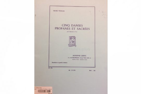 Tomasi Cinq Danses Profanes et Sacrees-Wind Quintet-Leduc