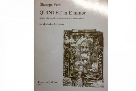 Verdi Quintet in E Minor-Wind Quintet-Emerson Edition