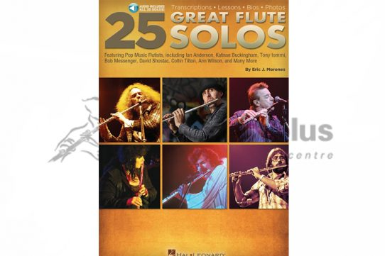 25 Great Flute Solos-Morones-Flute Book and Audio Download-Hal Leonard