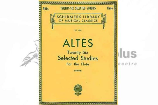 Altes 26 Selected Studies for the Flute-Schirmer