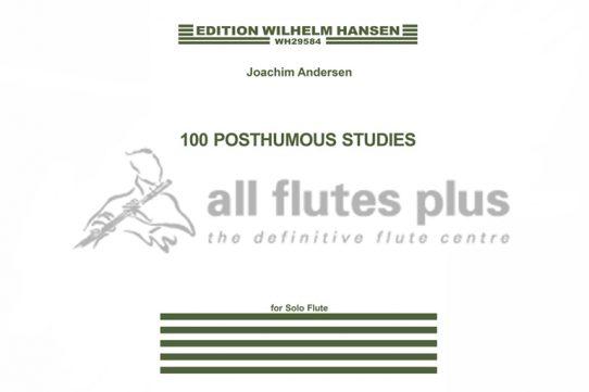 Andersen 100 Posthumous Studies for Solo Flute-Wilhelm Hansen
