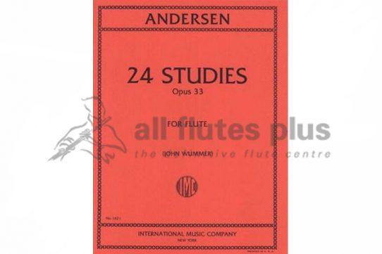 Andersen 24 Studies For Flute Opus 33-IMC