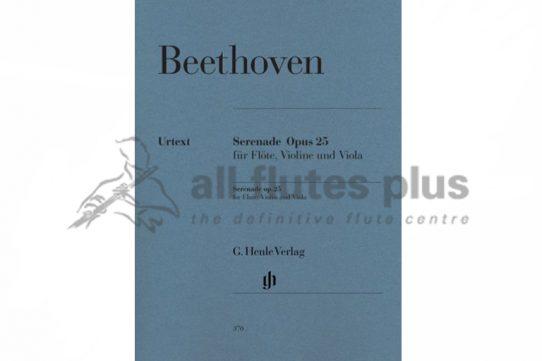Beethoven Serenade Opus 25-Flute Violin and Viola Trio-Henle Verlag