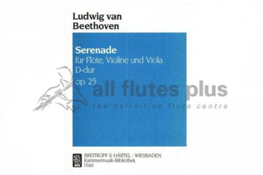 Beethoven Serenade in D Major Opus 25-Flute Violin and Viola Trio-Breitkopf