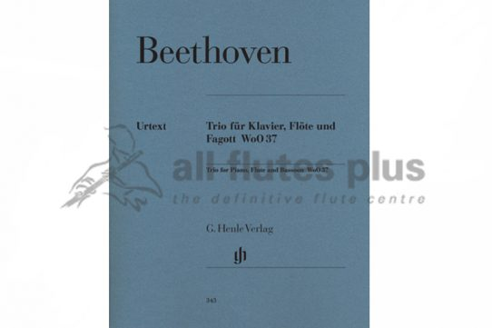 Beethoven Trio WoO37-Flute, Piano and Bassoon Trio-Henle