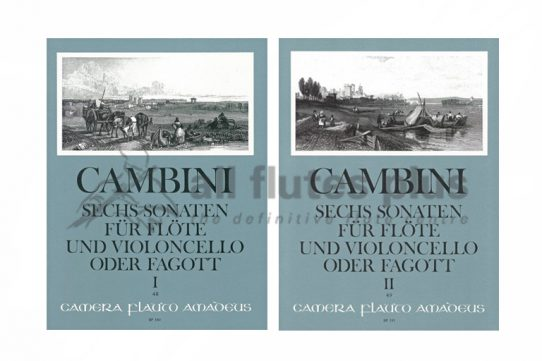 Cambini 6 Sonatas-Flute and Cello or Bassoon Duets-Amadeus