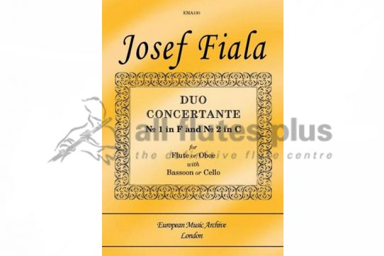 Fiala Duo Concertante No 1 and No 2-Flute and Bassoon or Cello-European Music Archive