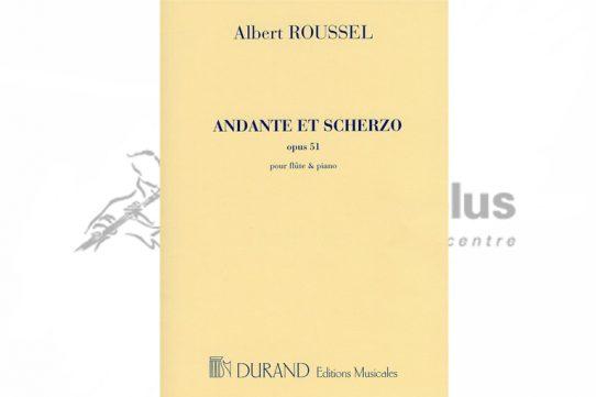 Roussel Andante et Scherzo Op 51-Flute and Piano-Durand