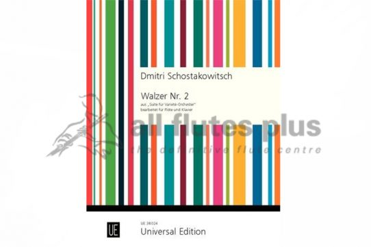 Shostakovich Second Waltz from Suite for Variety Orchestra-Flute and Piano-Universal