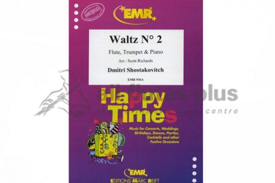 Shostakovich Waltz No 2-Flute Trumpet and Piano Trio-MusT