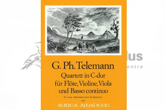 Telemann Quartet in C Major-Flute and String Trio-Amadeus
