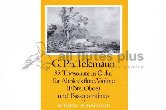 Telemann Trio Sonata in C Major-Flute, Oboe and Basso Continuo-Amadeus