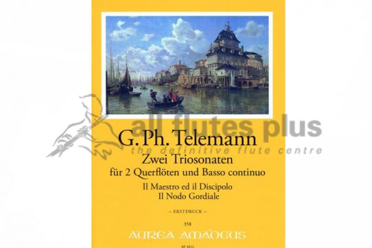 Telemann Two Trio Sonatas-Two Flutes and Basso Continuo-Amadeus