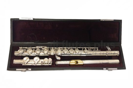 Yamaha YFL311 Secondhand Flute with Gold plated Lip-plate-c8292