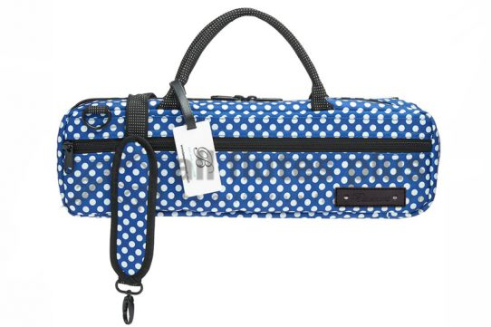 Beaumont Music Blue Polka Dot C-Foot Flute Bag
