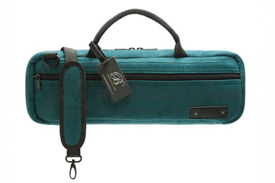 Beaumont Music Teal Corduroy C-Foot Flute Bag