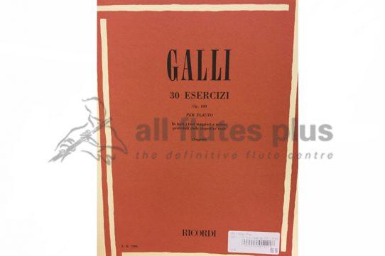 Galli 30 Esercizi Op 100 for Flute-Ricordi