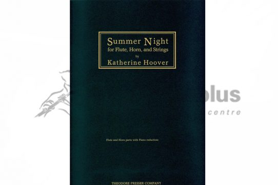Hoover Summer Night-Flute Horn and Piano Reduction-Theodore Presser