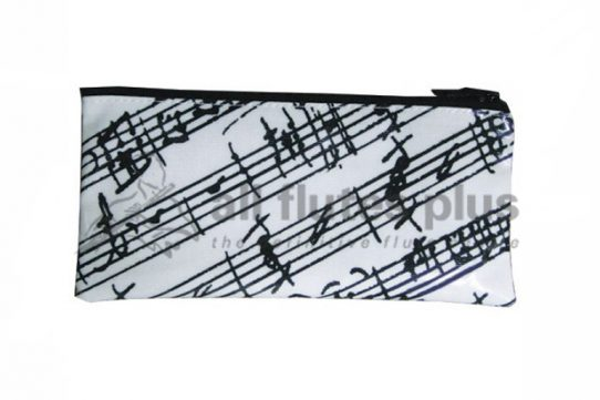 Manuscript White Pencil Case-Music Gift Company