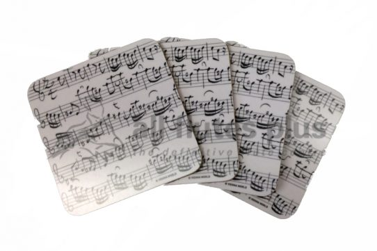 Music Score Coasters-4 pcs-Vienna World