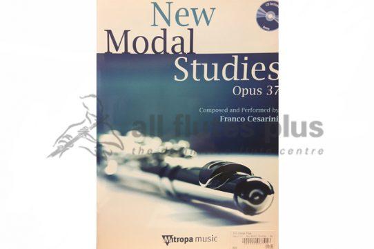 New Modal Studies Opus 37-Flute with Demo CD-Franco Cesarini-Mitropa Music