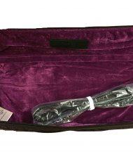 Nuboo Black Quilted C-Foot Flute Case