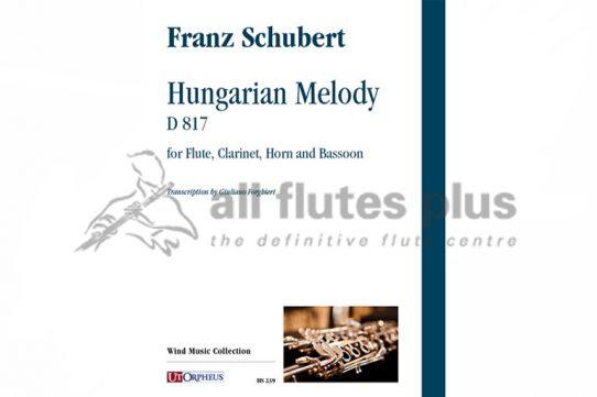 Schubert Schubert Hungarian Melody D817-Wind Quartet-Utorpheus