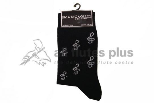Treble Clef Socks-The Music Gift Company
