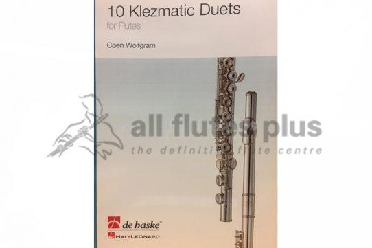 10 Klezmatic Duets by Wolfgram-Two Flutes-De Haske