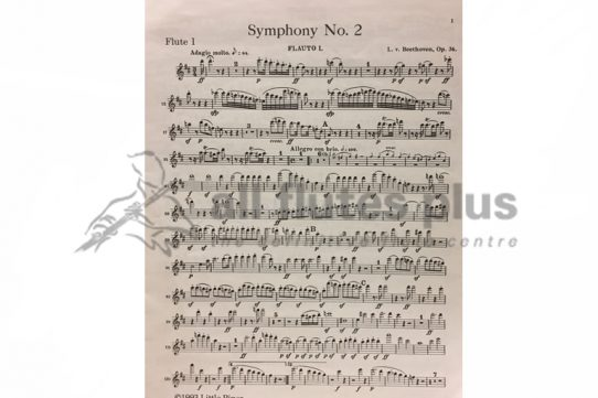 Beethoven Symphony No 2-Flute 1 Part-Little Piper